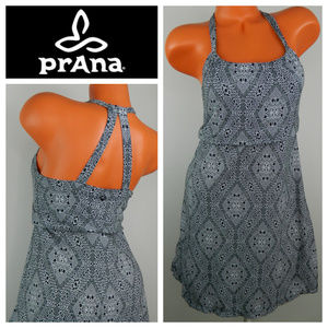 PRANA Small DRESS Black Gray YOGA Moroccan